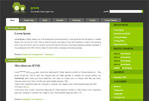 Green WP Theme