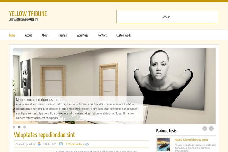 Yellow WordPress Themes