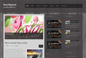 Mono Magazine Free Wordpress Theme
