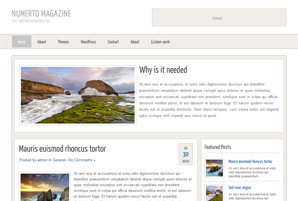 Numerto Magazine Free Wordpress Theme