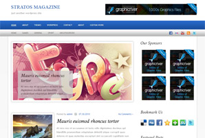 Stratos Magazine Free Wordpress theme