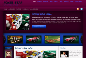 poker point cool free wordpress theme